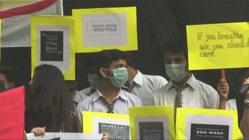印度新德里霧霾嚴重學校停課