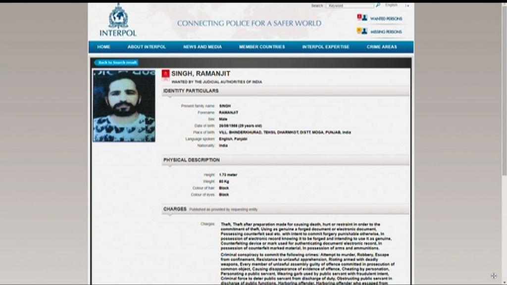 警拘印度裔疑犯 據報當局要求引渡回國受審