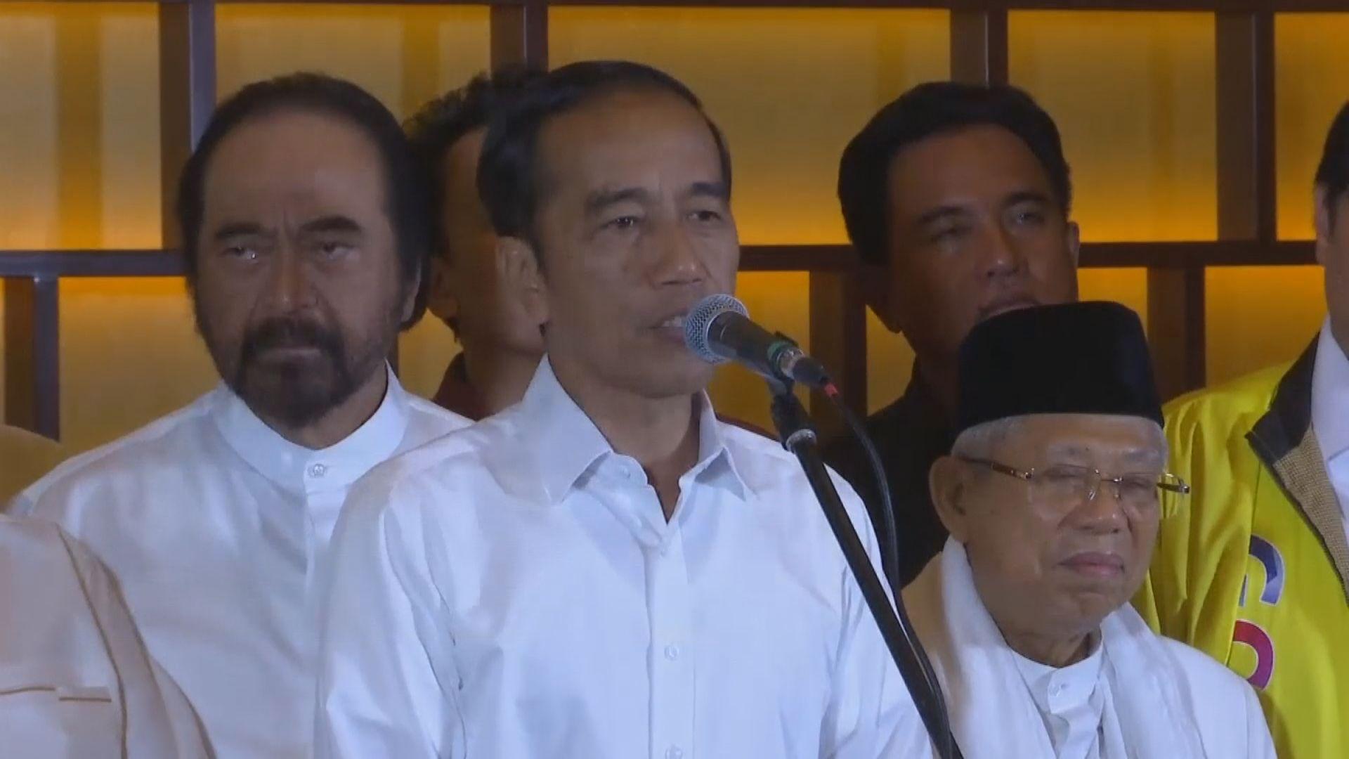 佐科維多多宣稱連任印尼總統