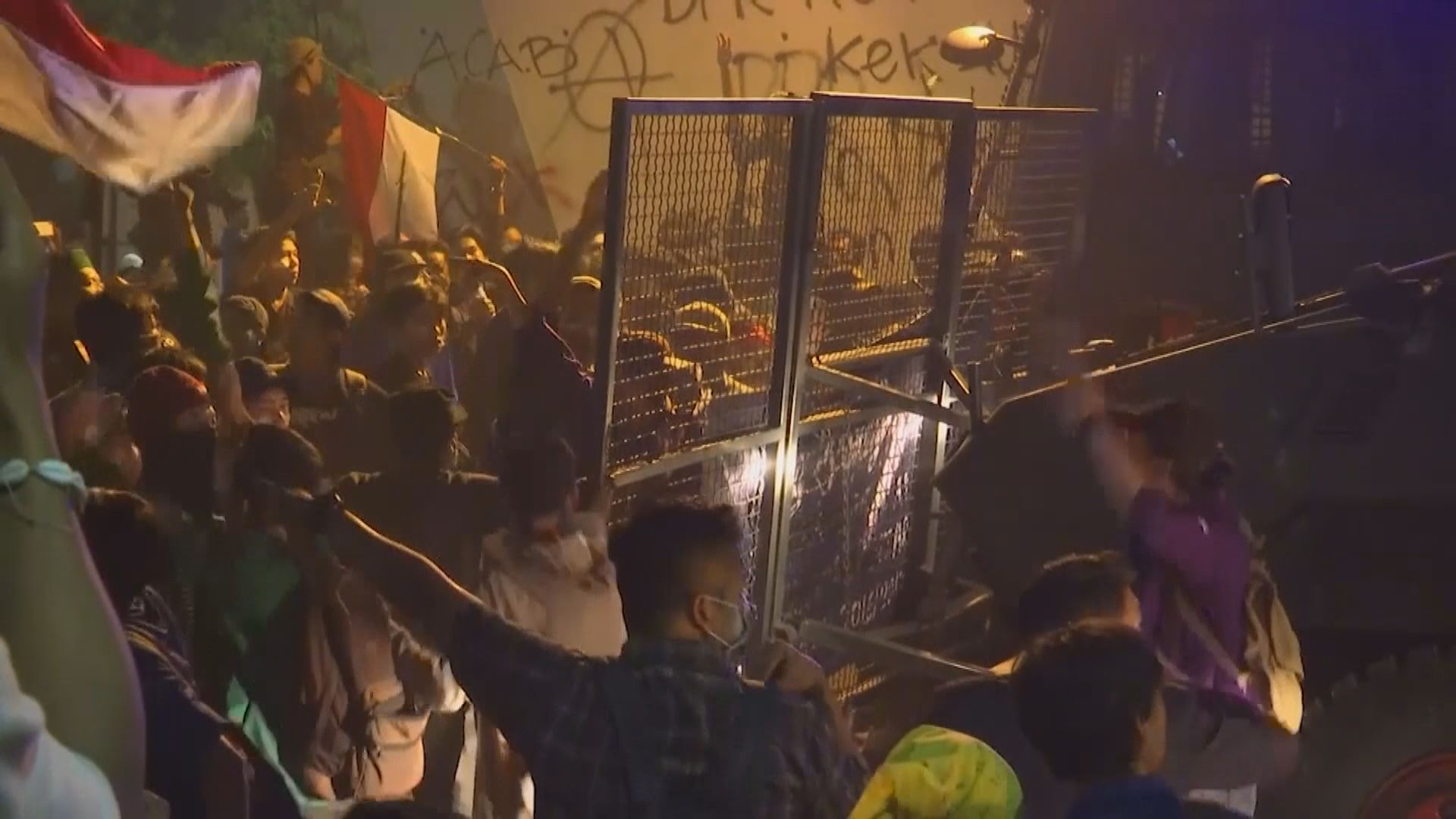印尼大學生連續三日抗議政府多項爭議法案