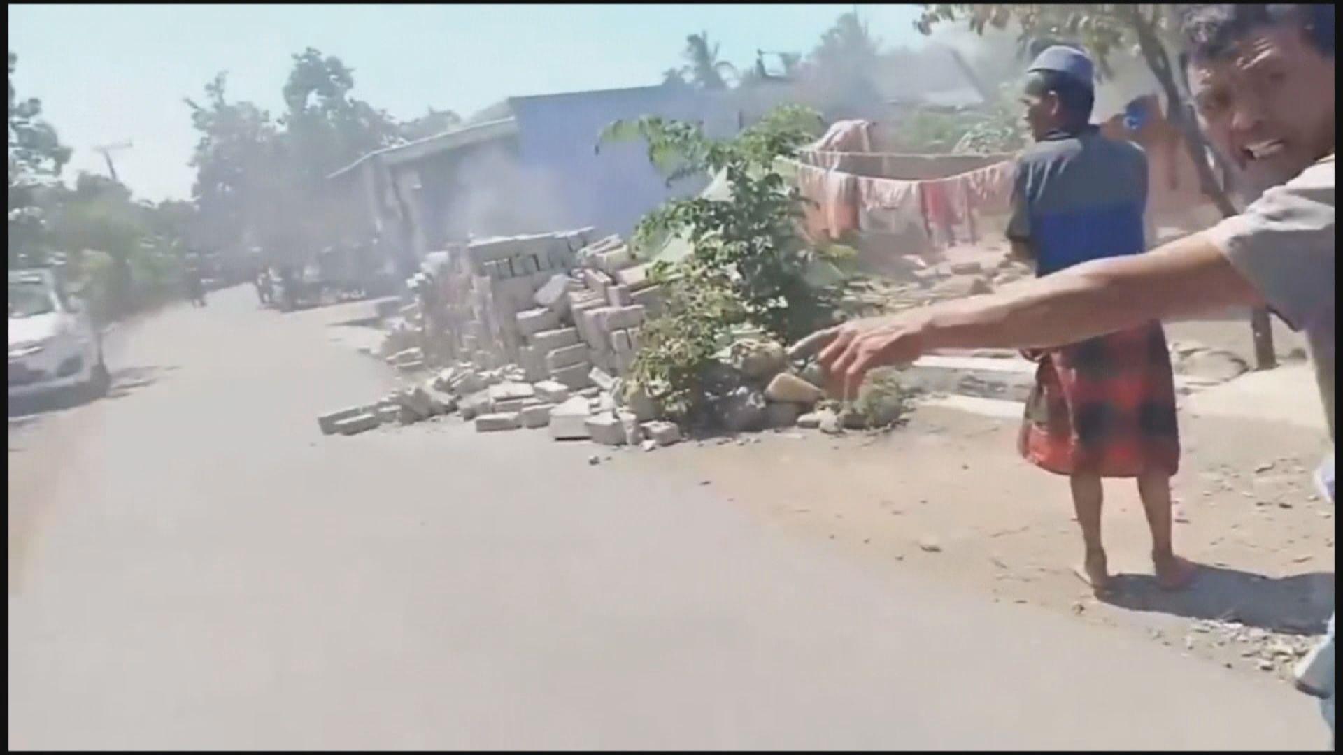印尼龍目島再有地震引發山泥傾瀉