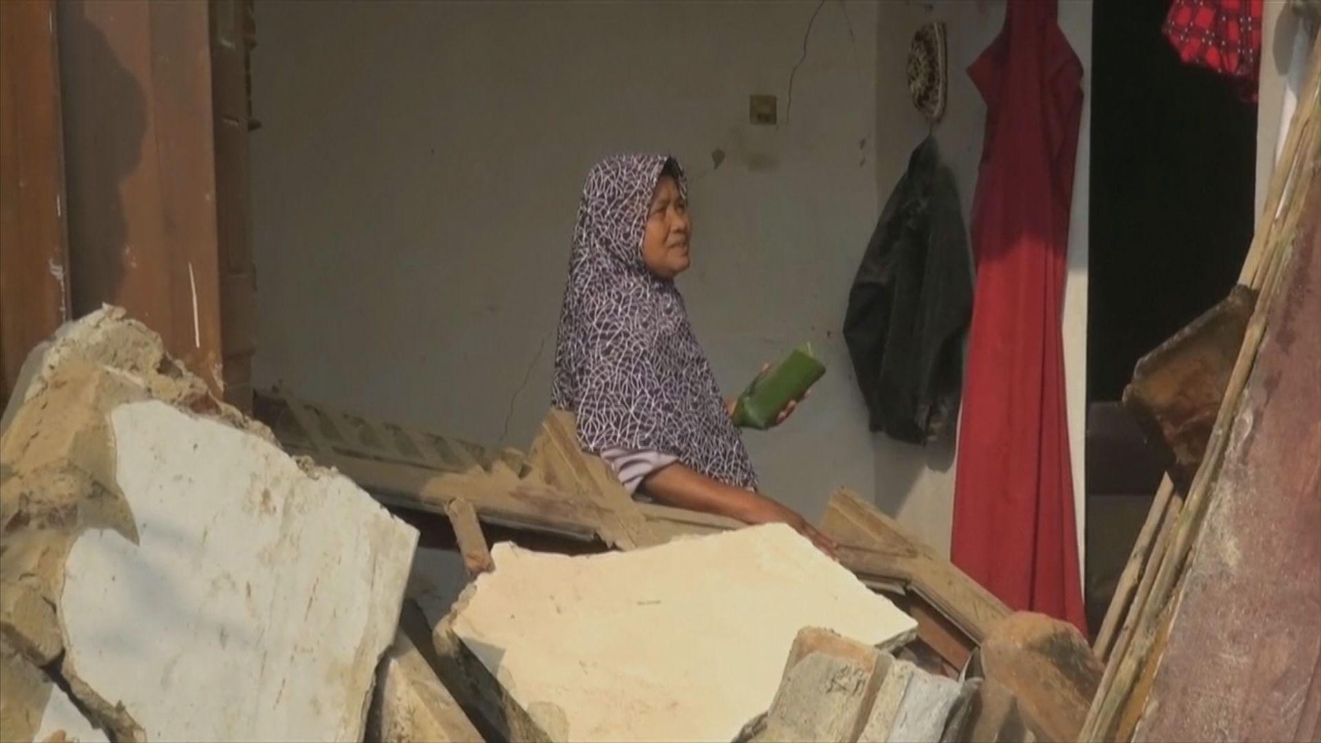 印尼西爪哇6.8級地震 過百間房屋倒塌