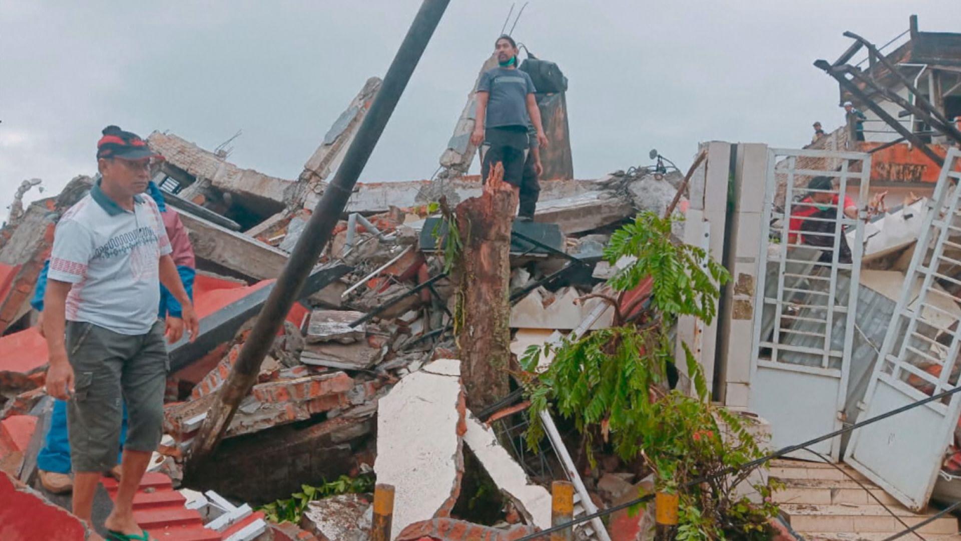印尼蘇拉威西島6.2級地震 至少七死數百人傷