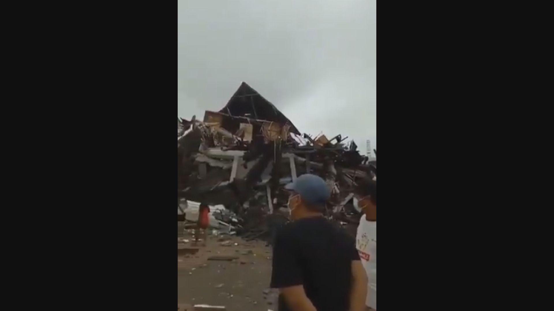 印尼蘇拉威西島6.2級地震 至少七死逾六百傷