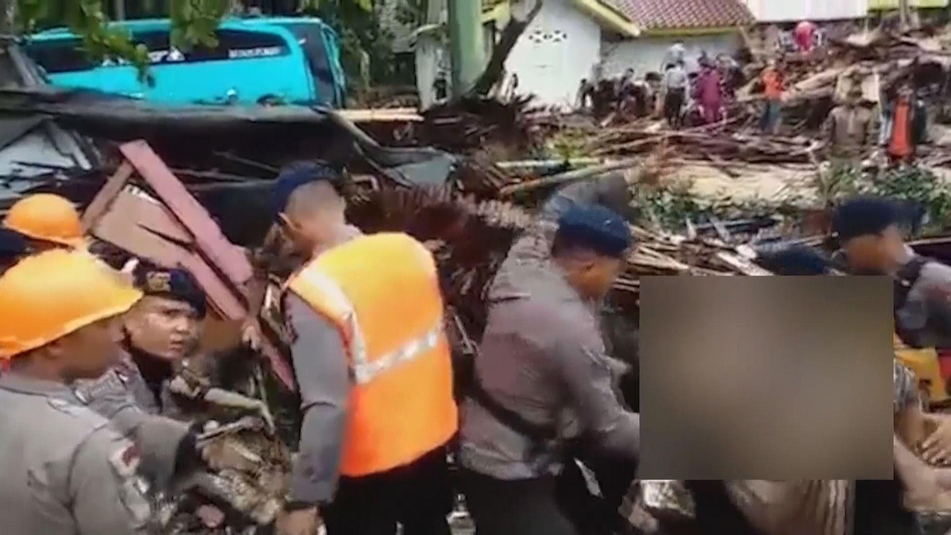 印尼西部海嘯增至逾二百人死亡