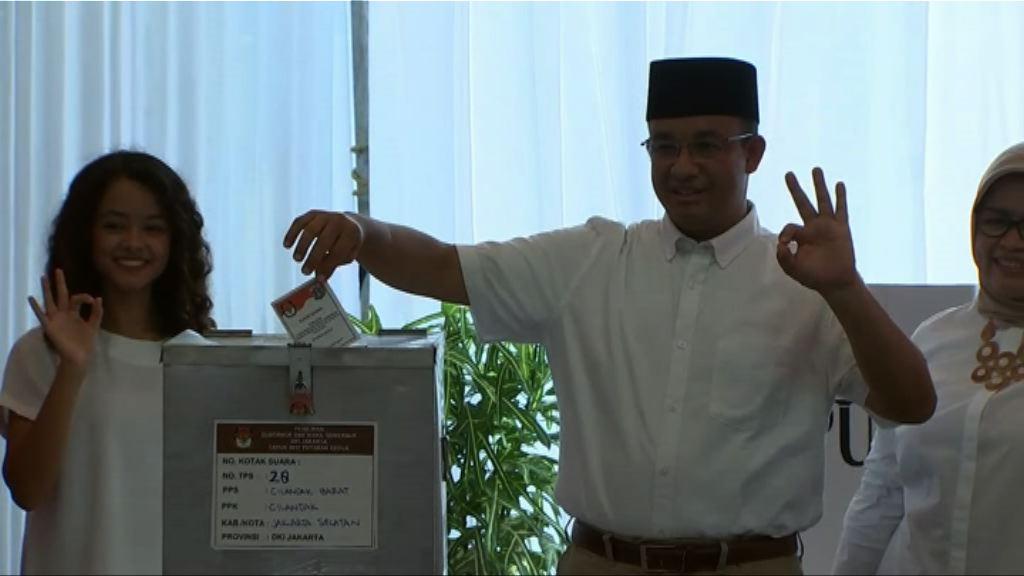 雅加達省長選舉結束 正點票