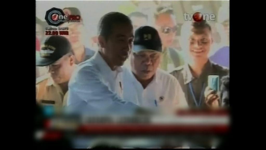 印尼總統佐科維多多探望地震災民