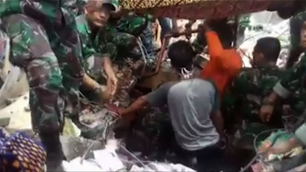 印尼地震搜救工作持續