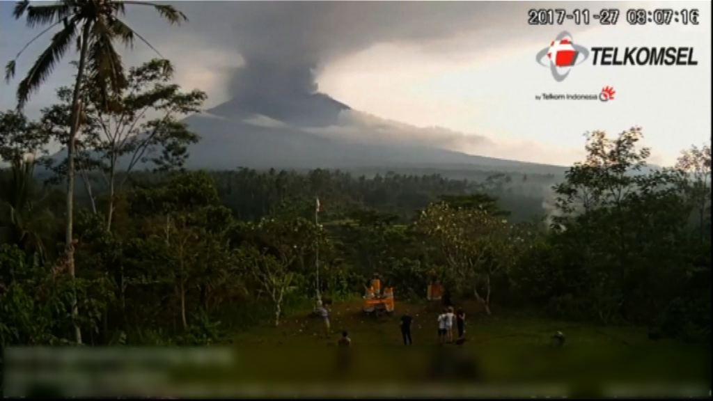 峇里阿貢火山噴發警戒升至最高級別
