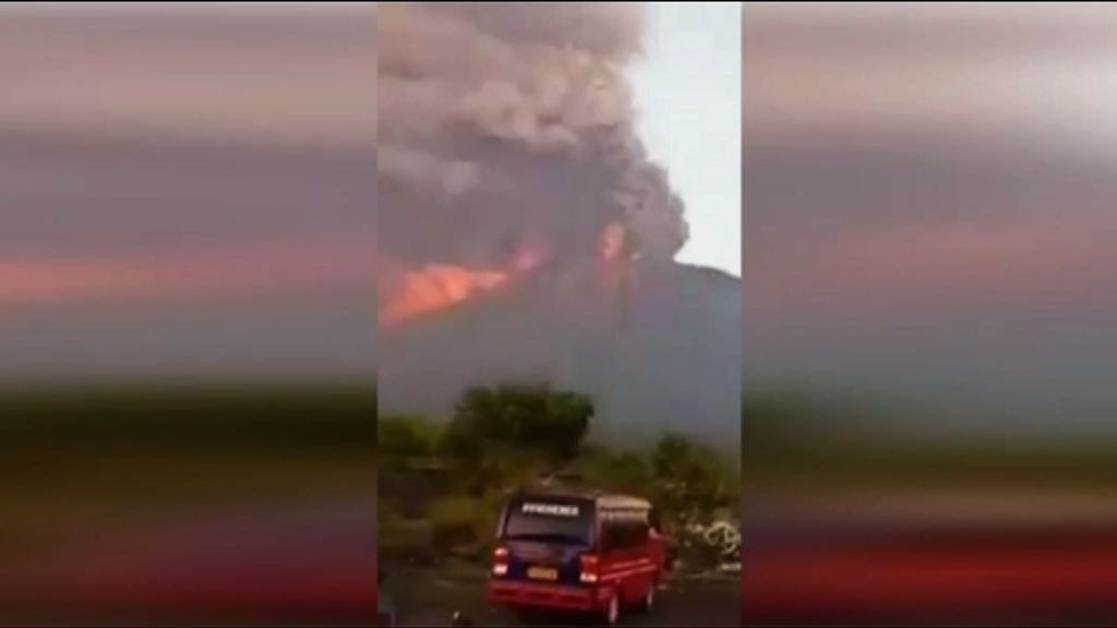 印尼阿貢火山或大規模噴發 約四萬居民撤走