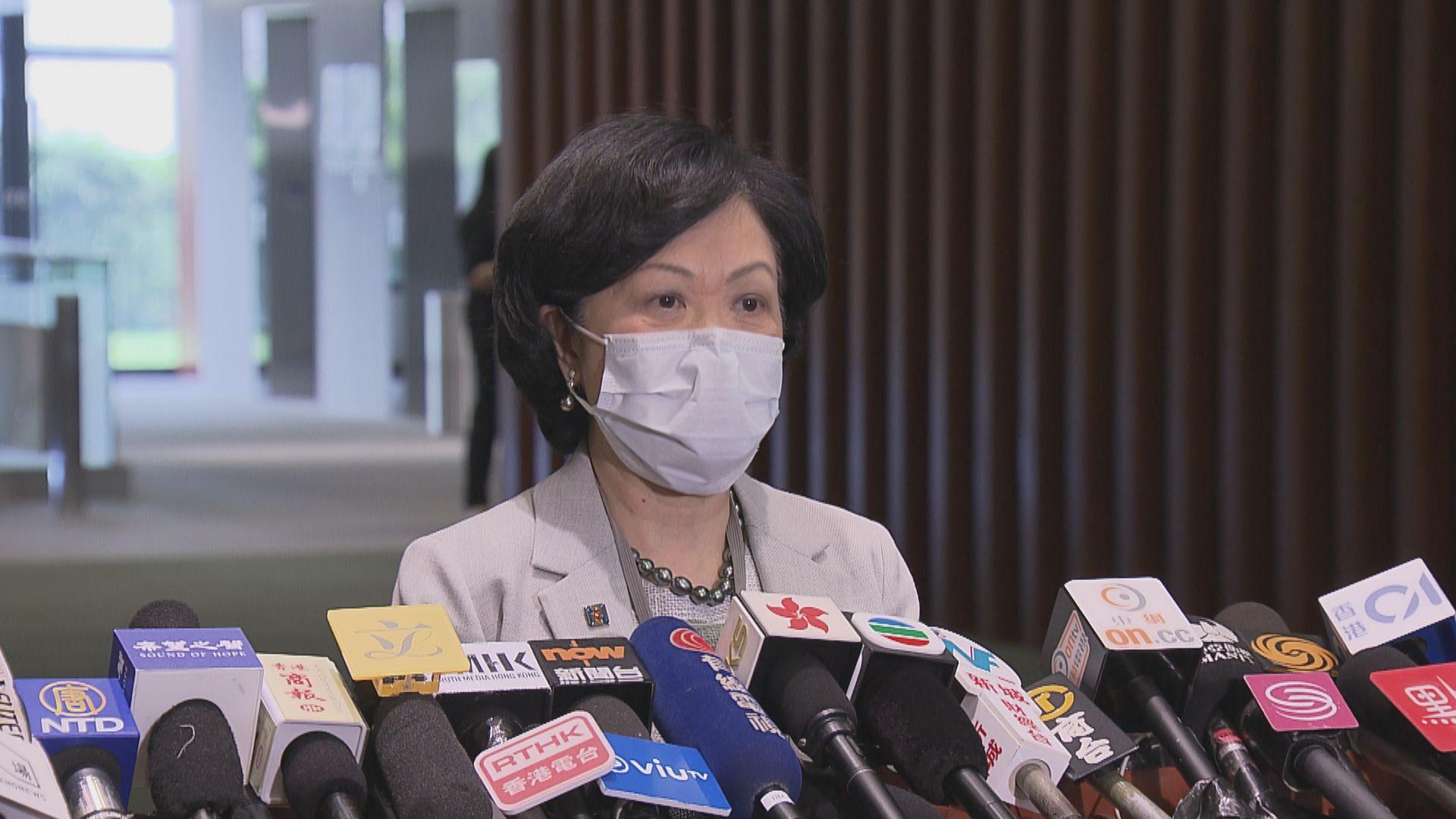 葉劉淑儀:警應配合國安法開設部門 加強情報蒐集