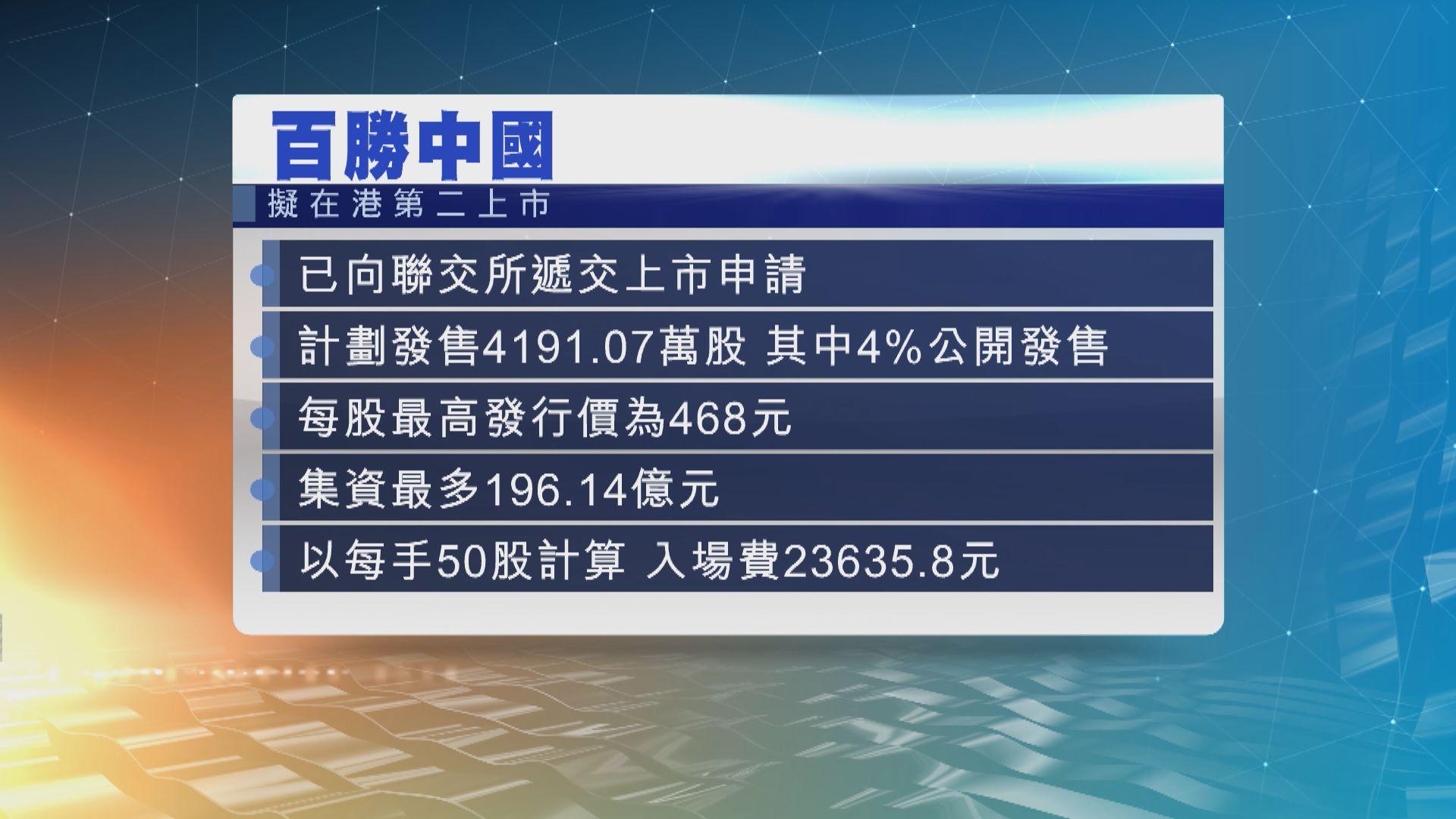 內地連鎖餐飲集團百勝中國計劃來香港第二上市