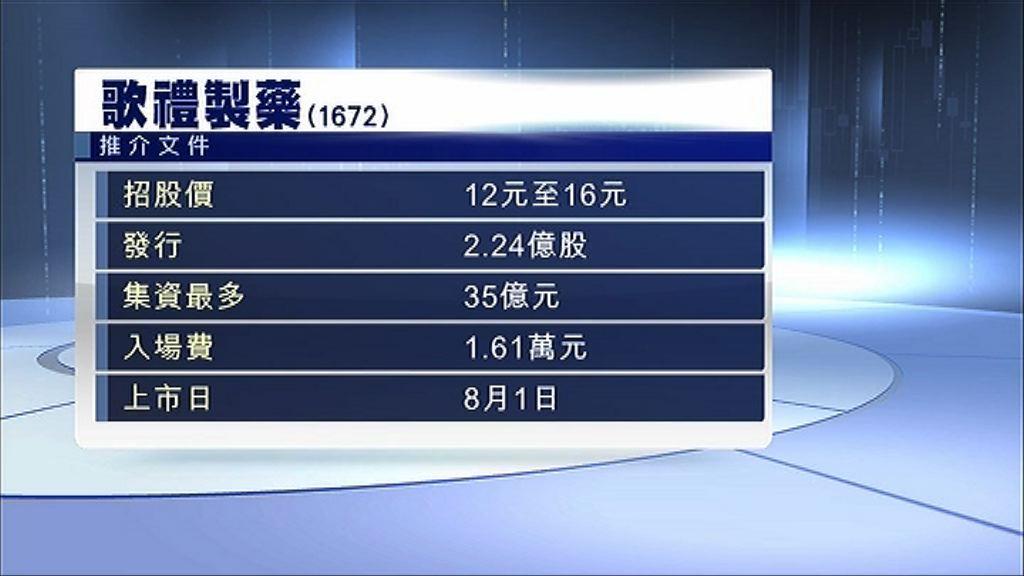 【無收入生科首股】歌禮招股入場費1.61萬