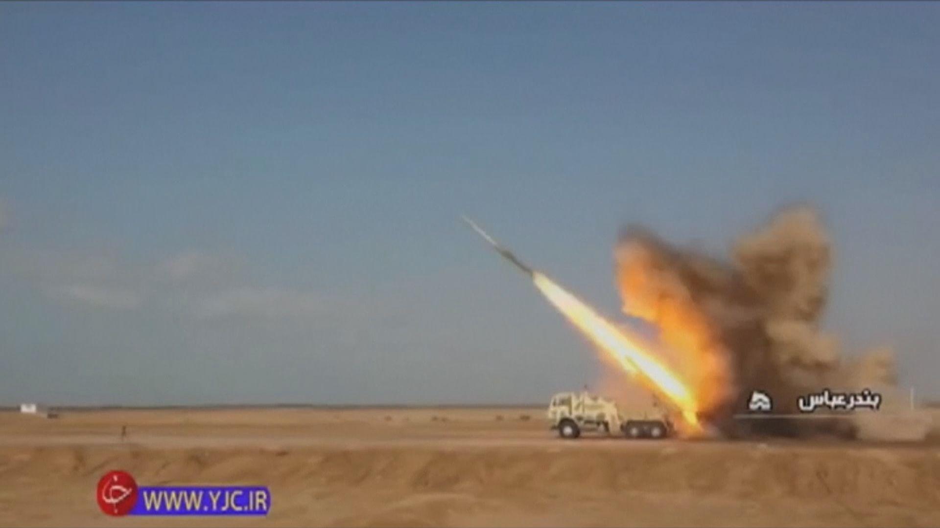 伊朗軍演模擬向美軍航母發射導彈