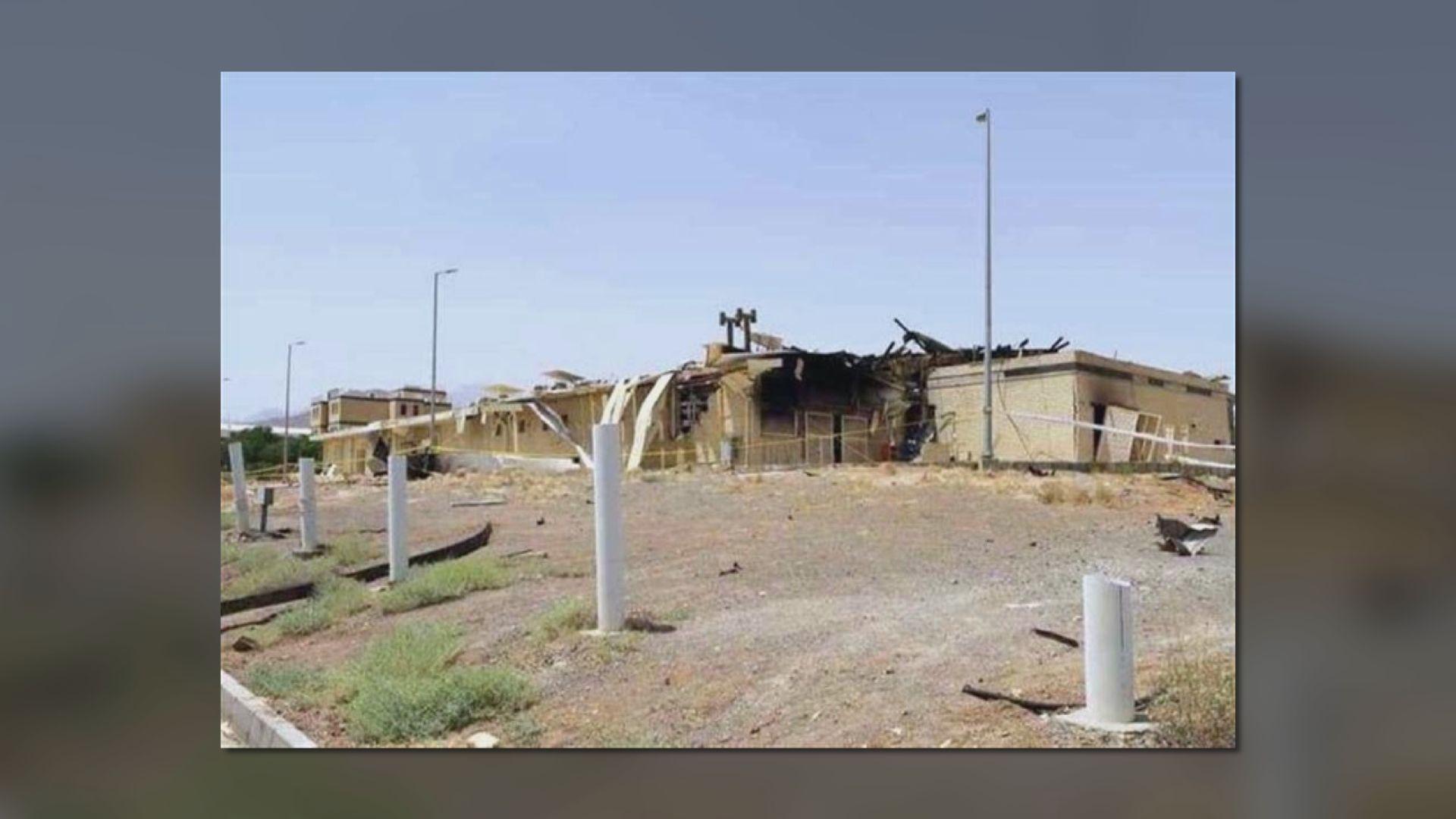 據報伊朗核設施因遭炸彈襲擊起火