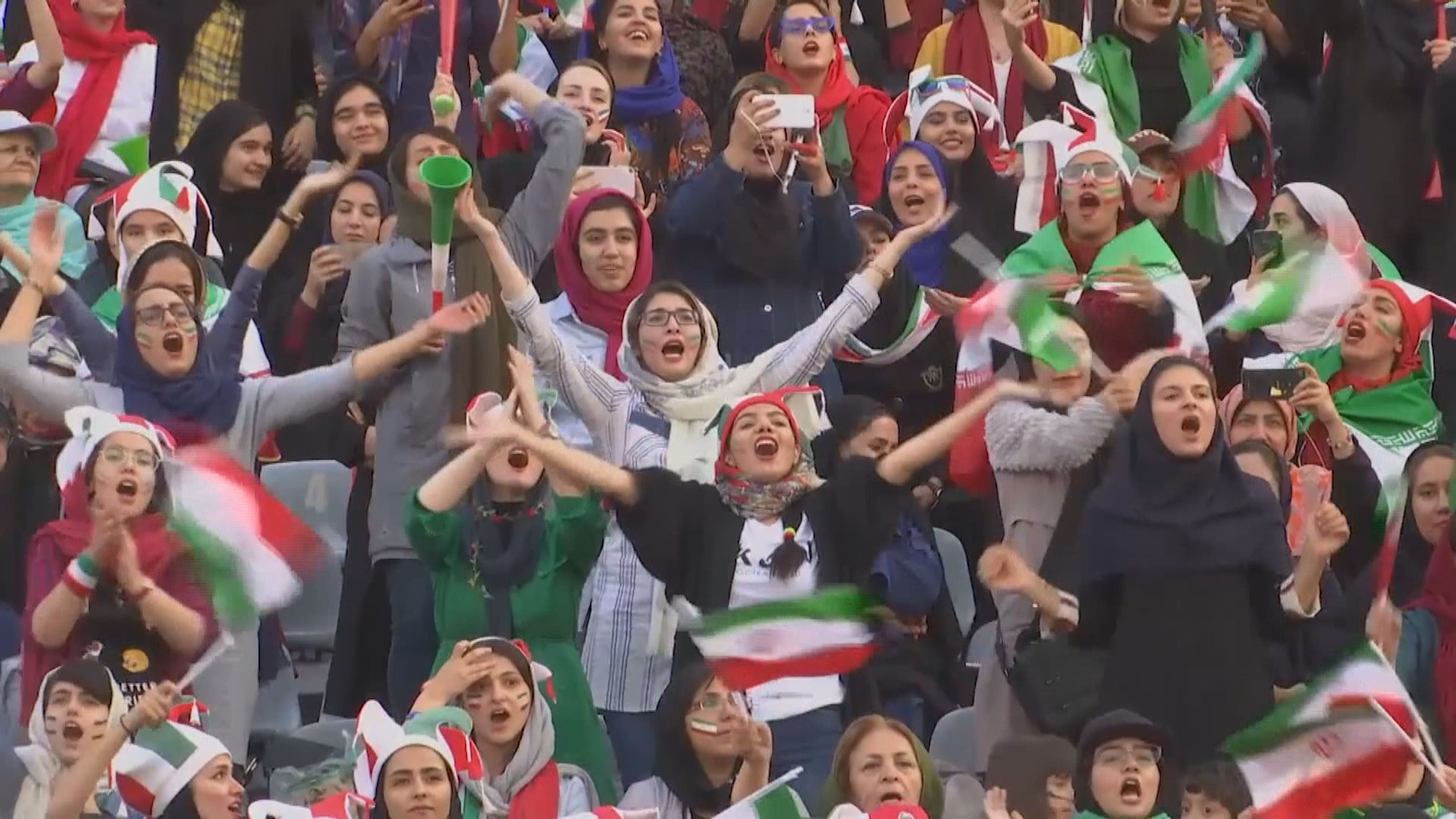 伊朗女性獲准入場看國家隊踢世界盃外圍賽