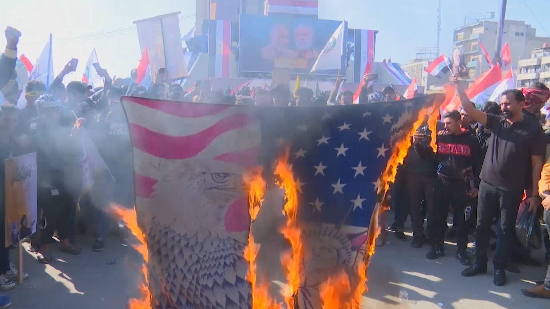 伊拉克民眾紀念索萊馬尼被殺一周年 伊朗重申將會報復