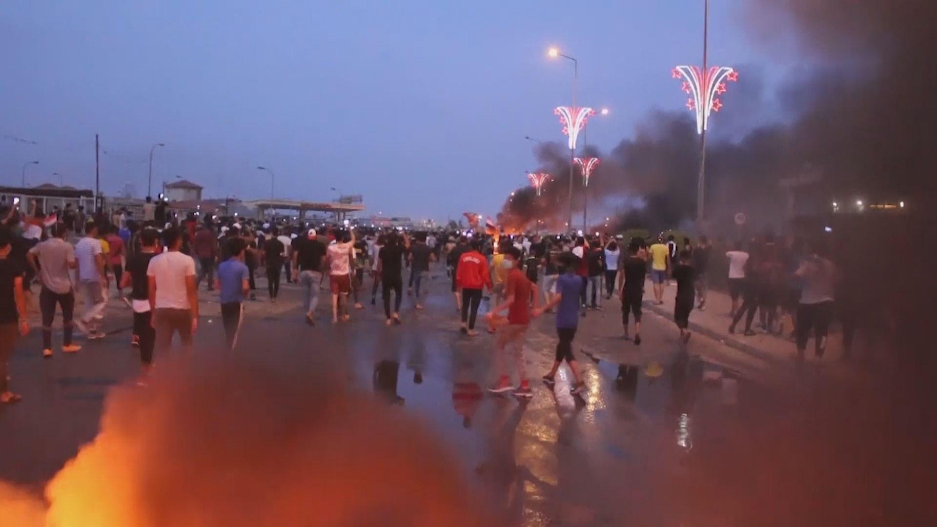 伊拉克總理下令採取必要措施結束示威