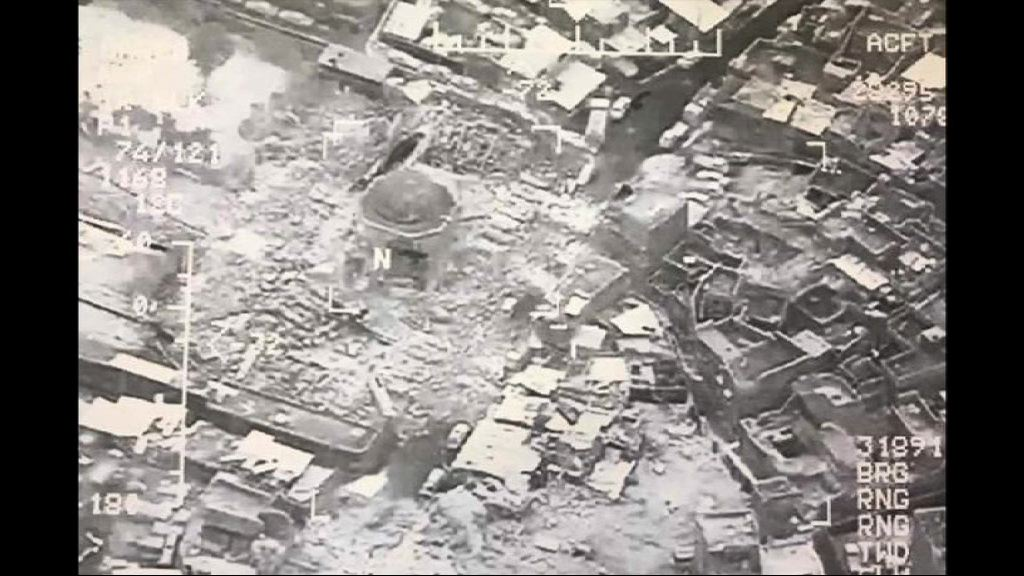 伊拉克摩蘇爾大清真寺遭炸毀