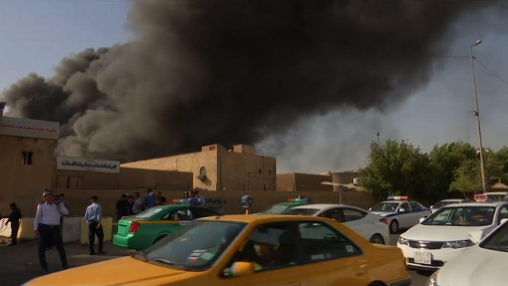伊拉克儲存待重點選票倉庫發生大火