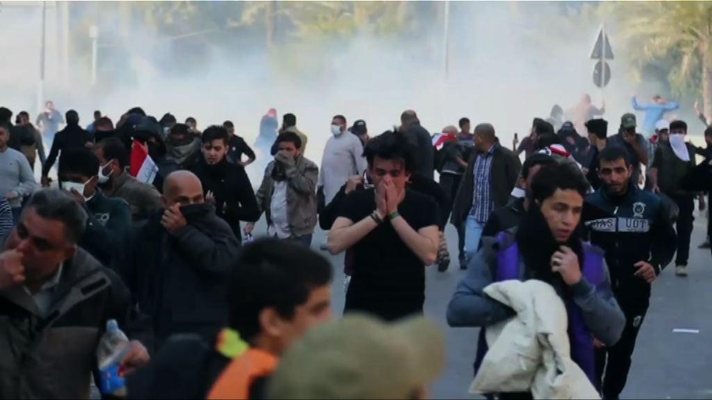 伊拉克反政府示威 一名警員死亡多人傷