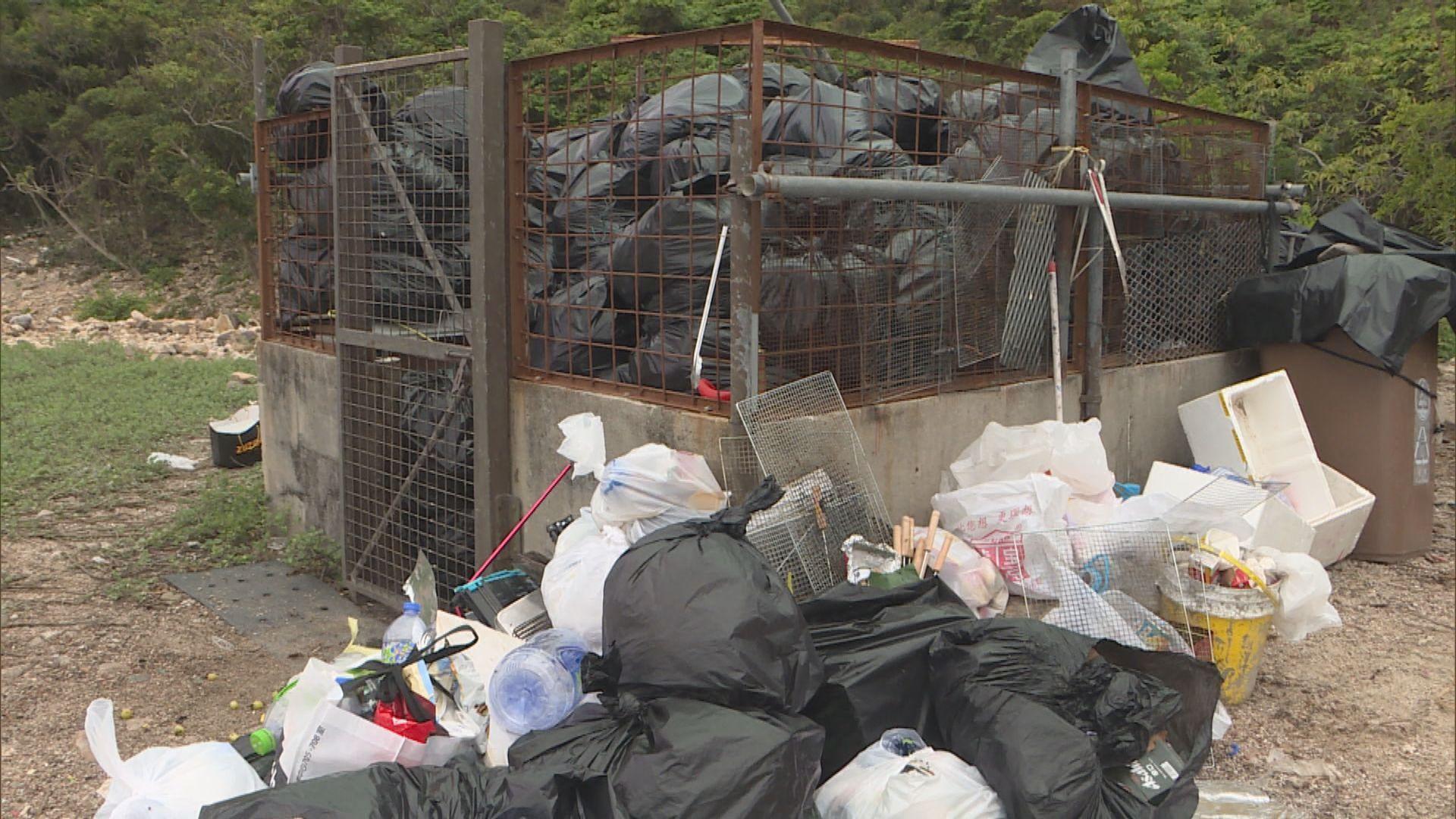 食環署復活節長假於離島及鄉郊收集逾190公噸垃圾