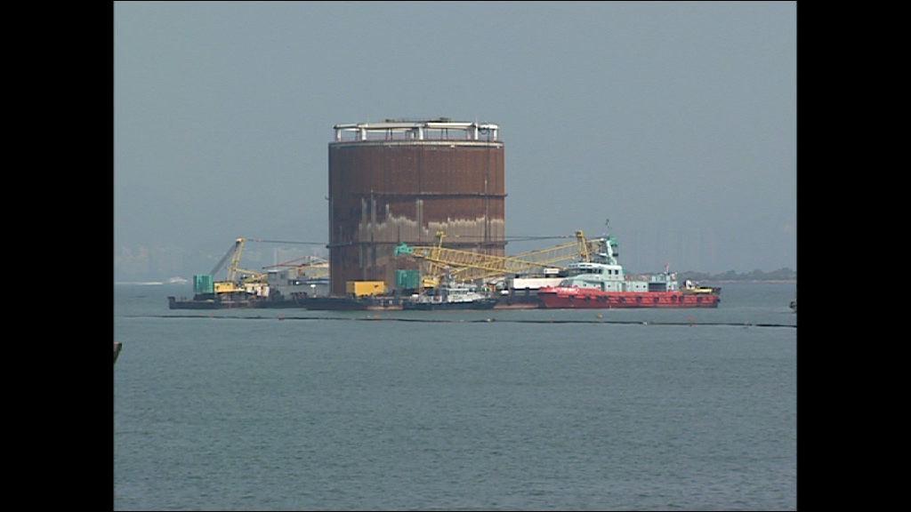 路政署否認港珠澳人工島鋼筒沉降異常