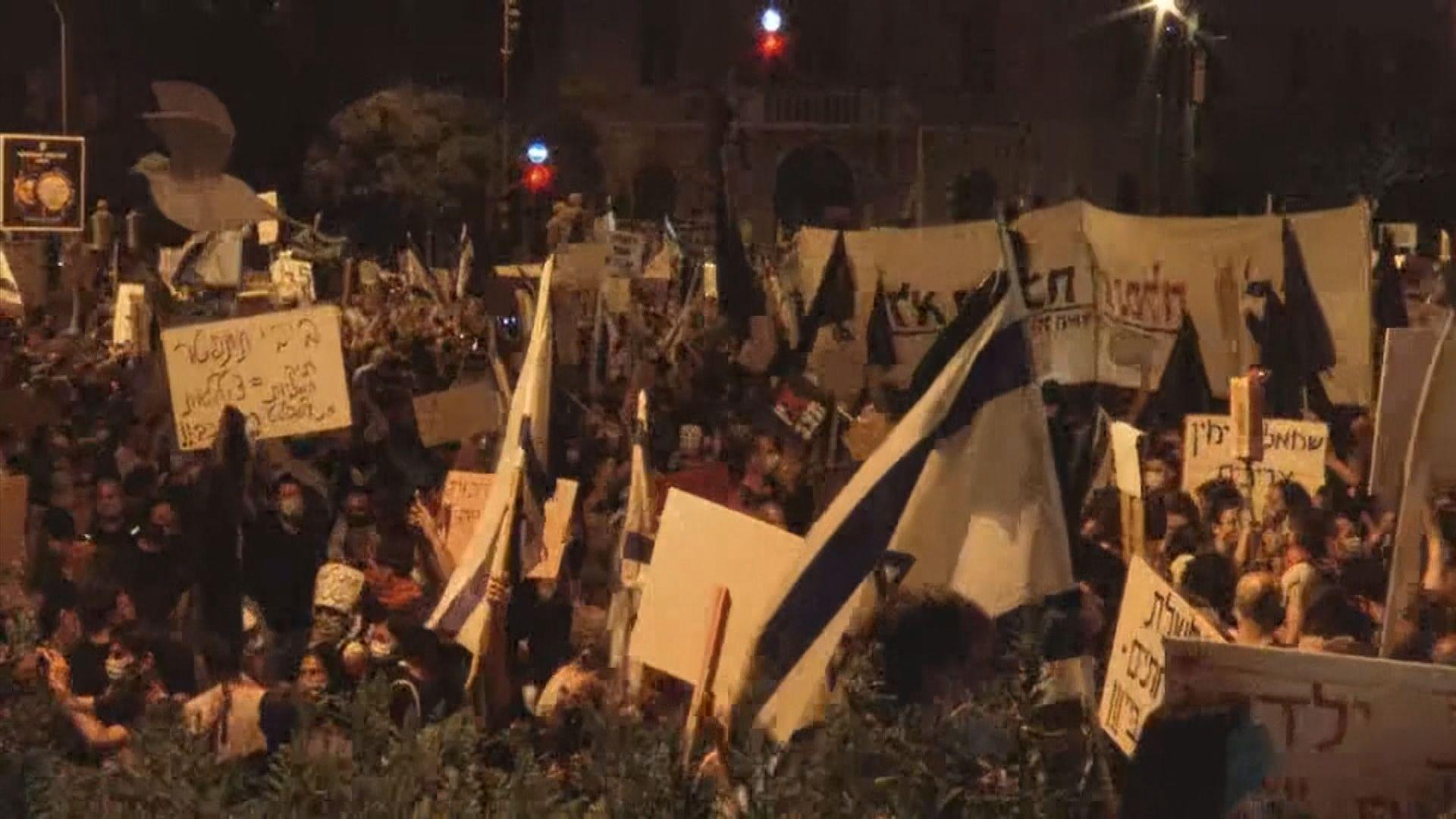 以色列反內塔尼亞胡示威持續