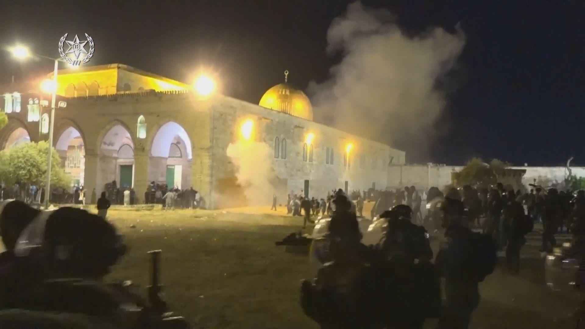 以巴阿克薩清真寺衝突至少200人傷