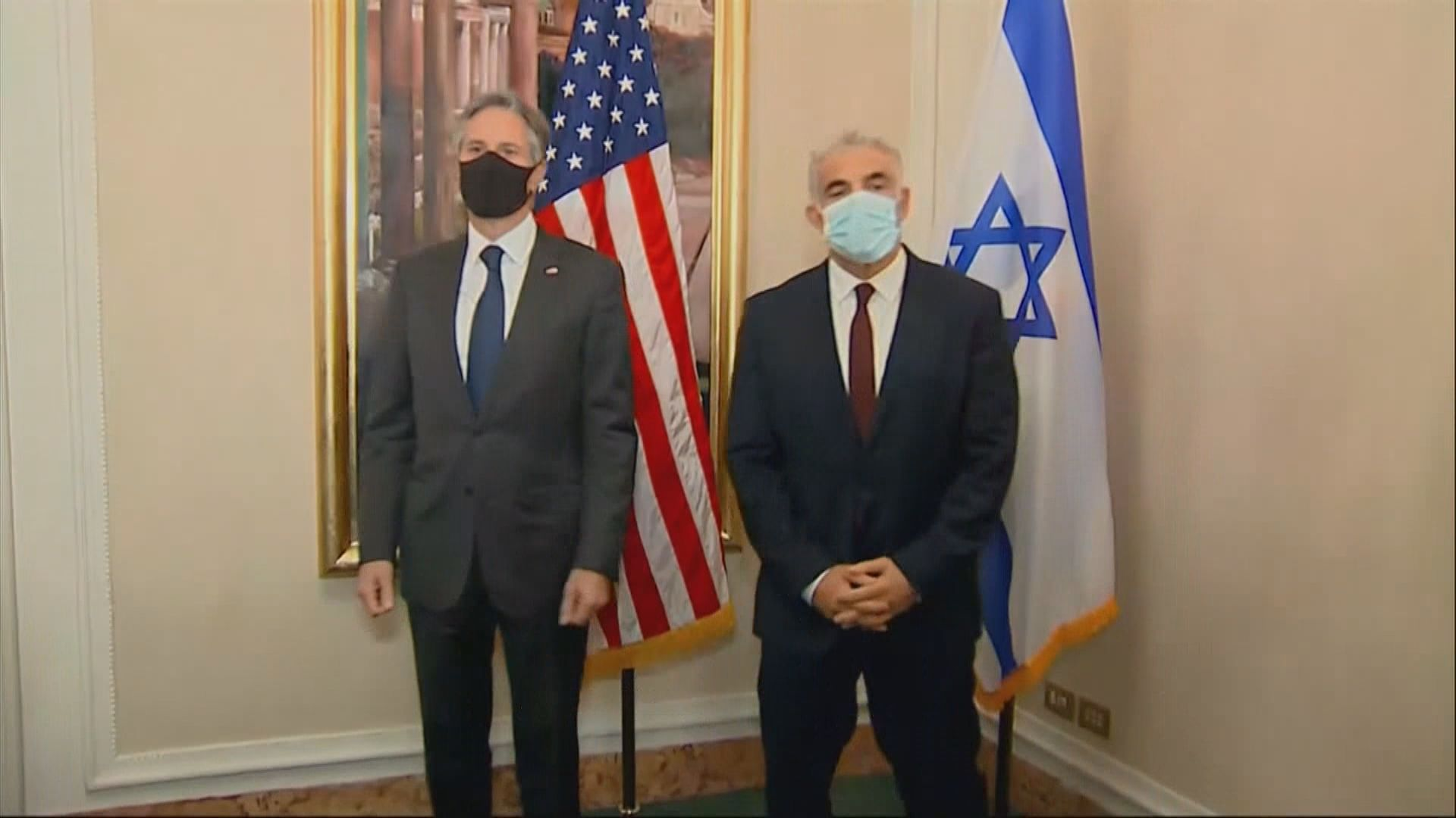 布林肯與以色列新任外長在羅馬會晤