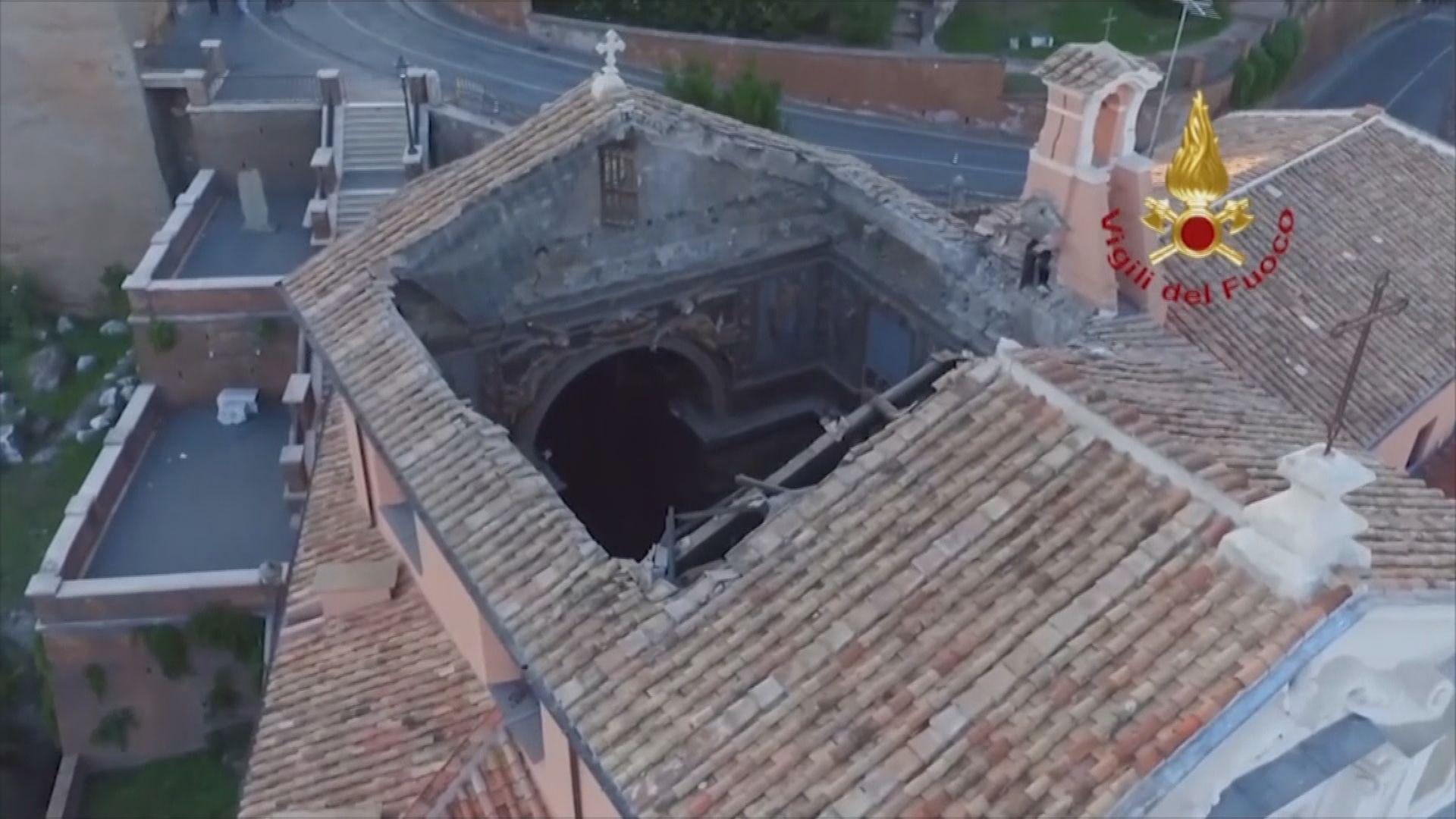 羅馬有教堂屋頂倒塌無人傷