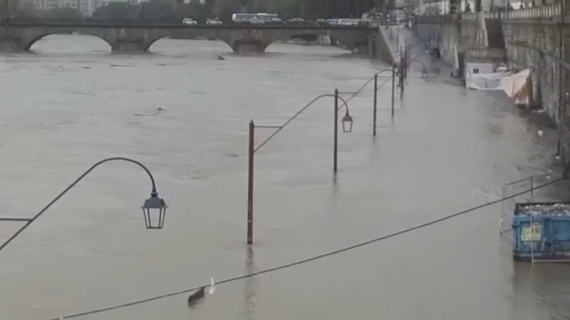 意大利惡劣天氣北部嚴重水浸
