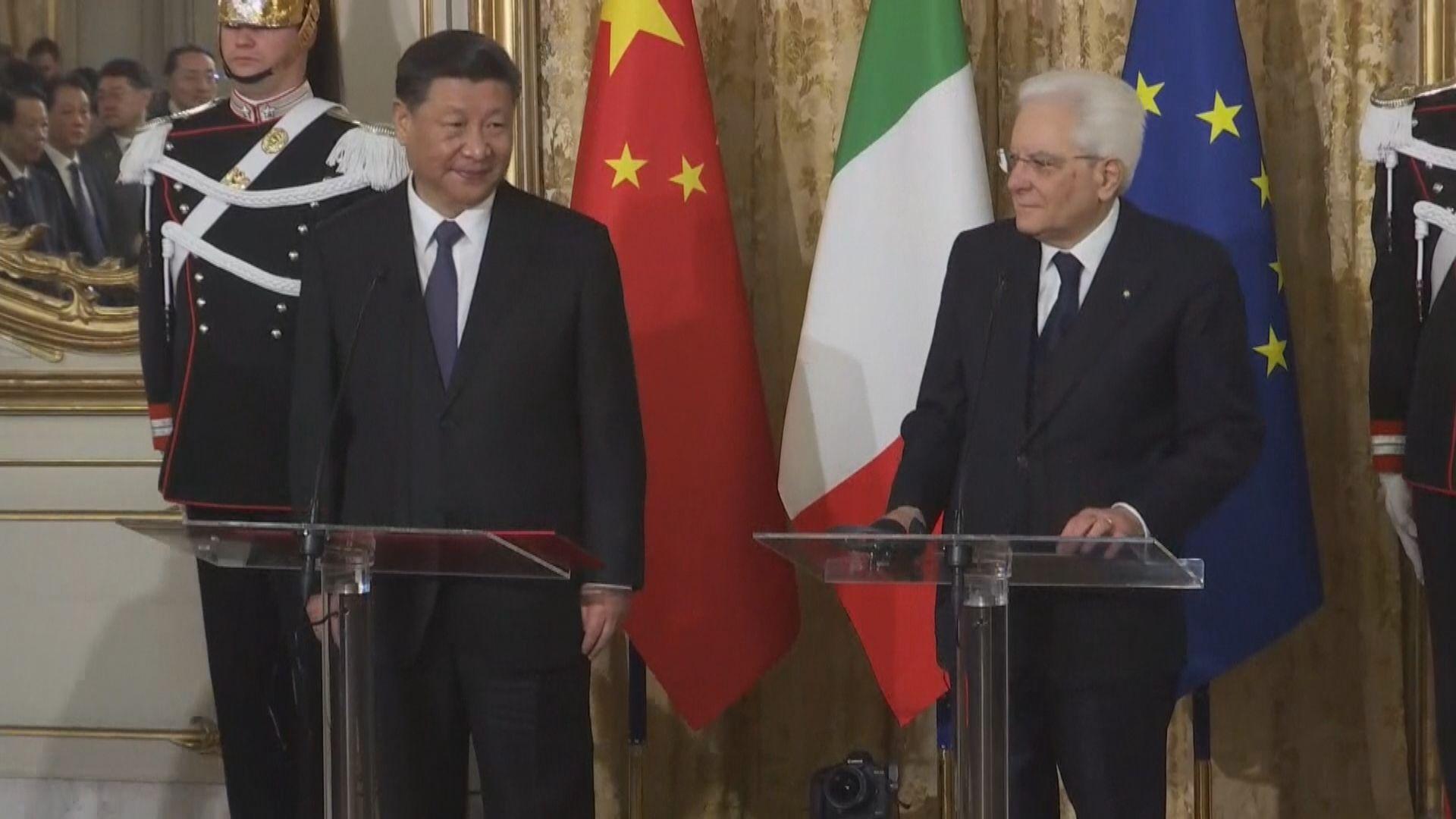 中意將簽署逾三十項協議 總值達70億歐元
