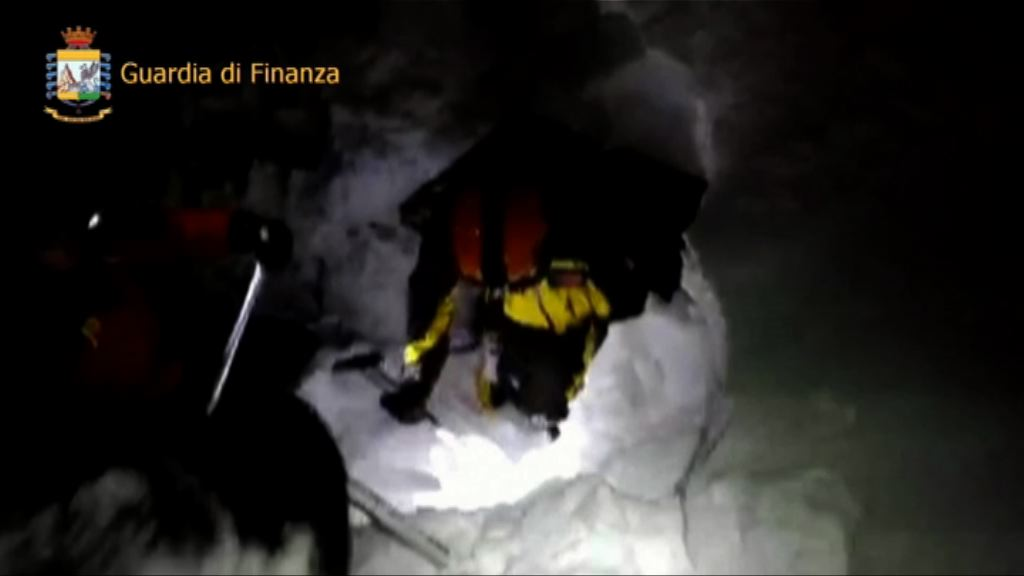 意大利山區雪崩掩埋酒店