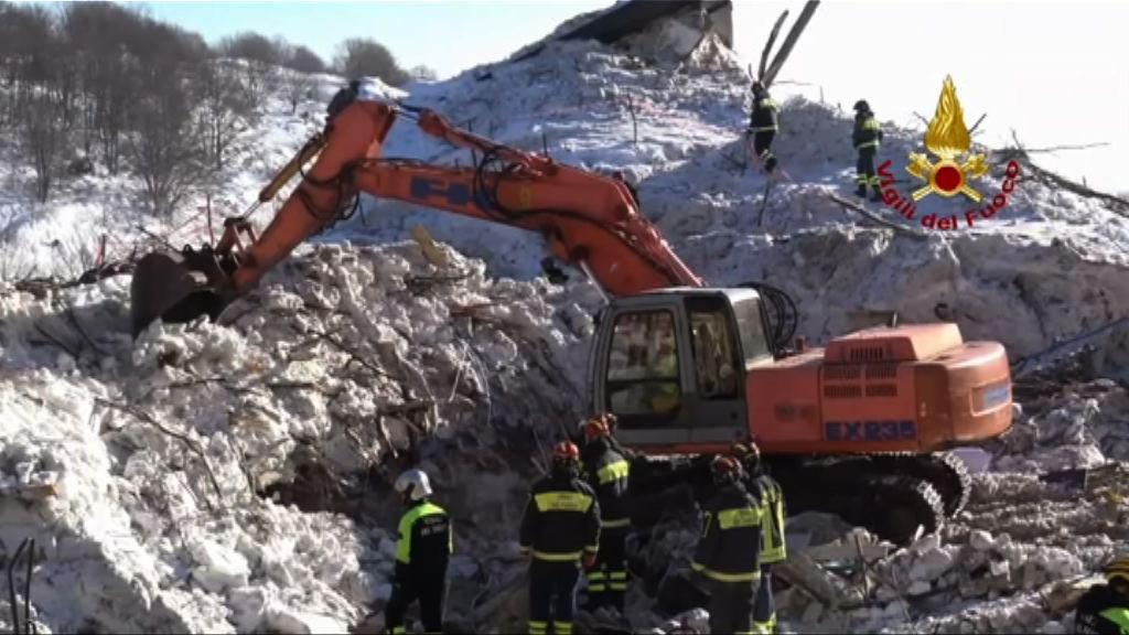 意國雪崩掩埋酒店29人死亡