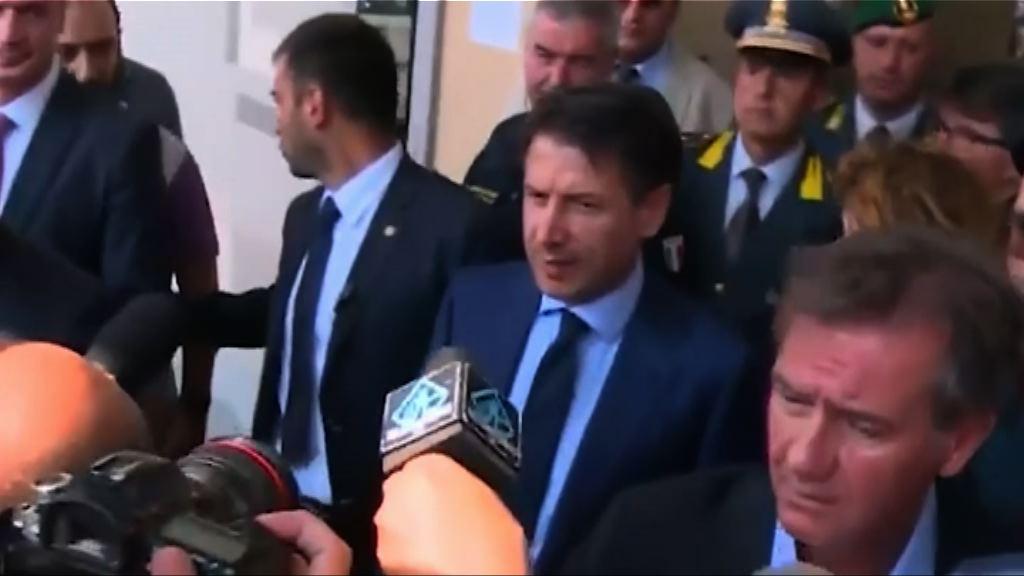 意大利總理探望爆炸事故傷者