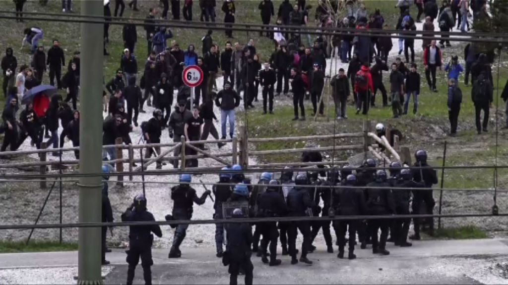 意國示威者抗議邊境管制釀警民衝突