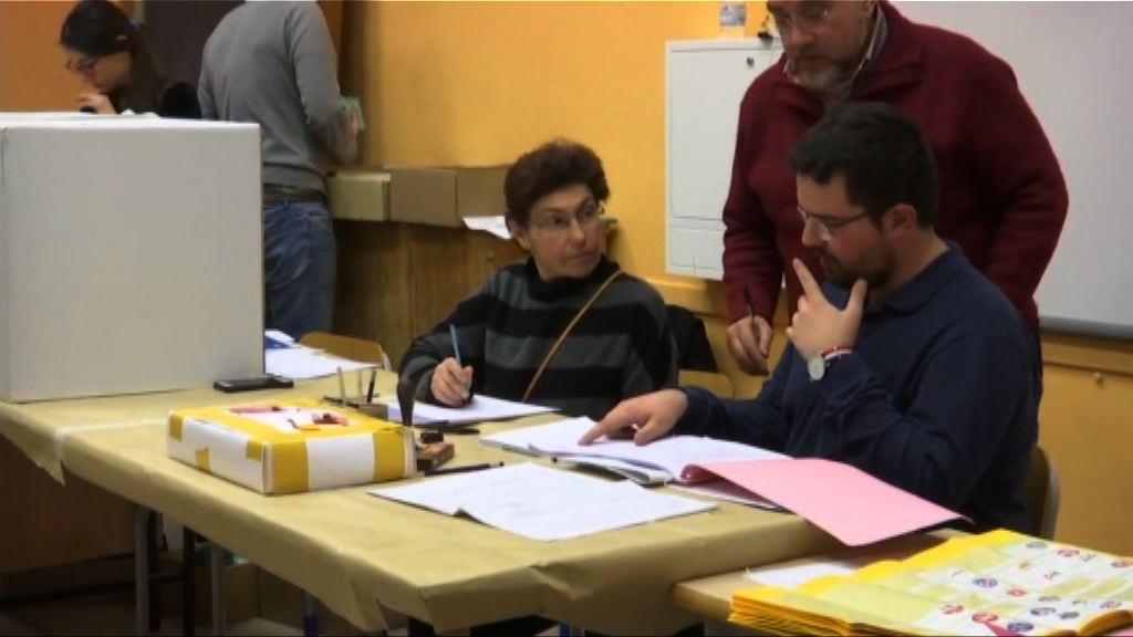 意國大選五星聯盟與中右聯盟得票相近