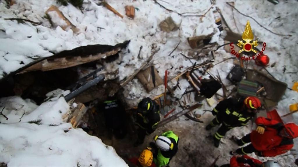 意大利雪崩事故死亡人數增至15人