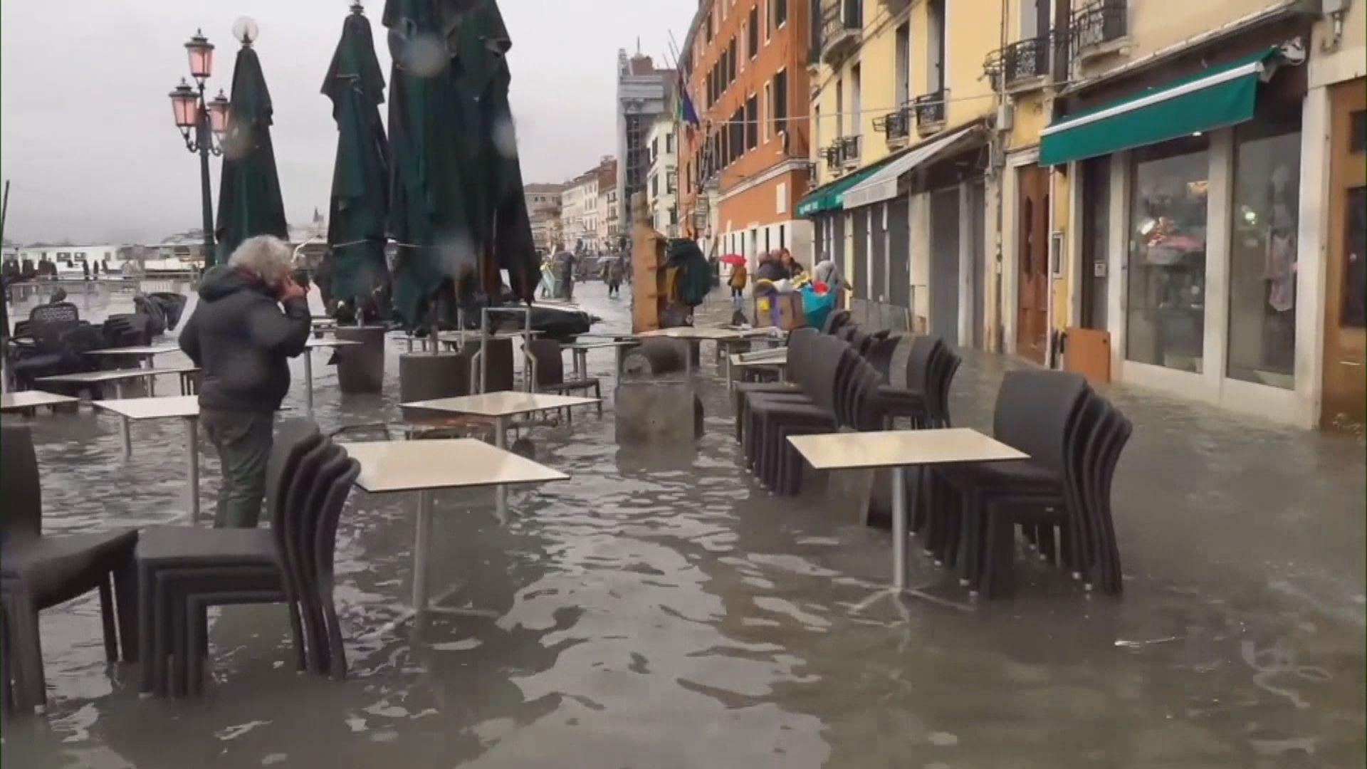 意大利威尼斯遇53年嚴重水浸