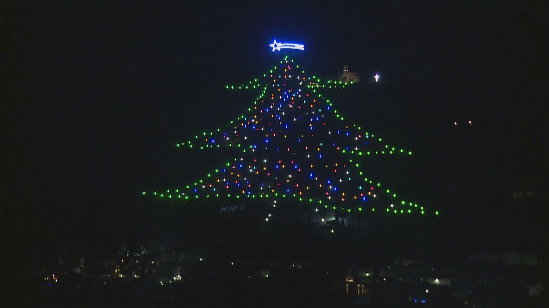 世上最巨型聖誕樹意大利古鎮現身
