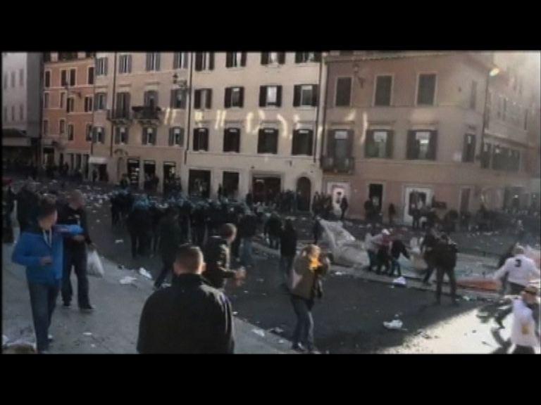 羅馬爆發球迷騷亂多人傷