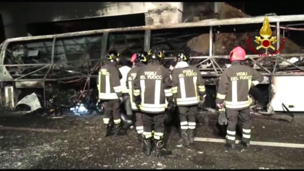 意大利北部有巴士起火多人死傷