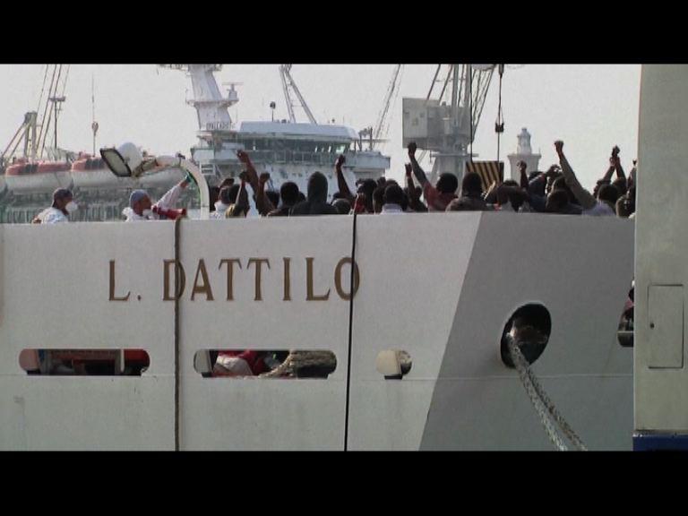 意大利當局地中海救逾千名難民