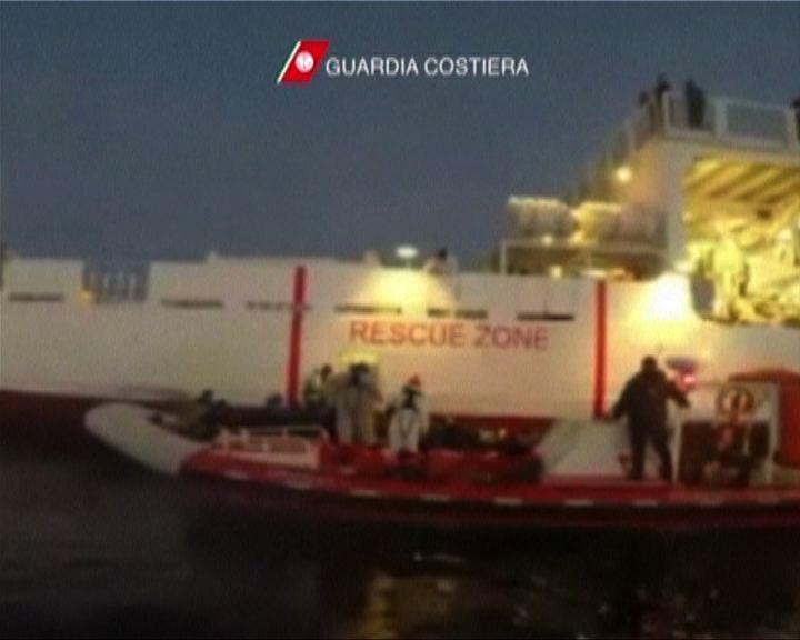 意大利南海岸截獲大批偷渡客
