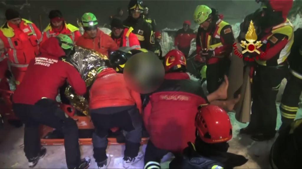 意大利雪崩再有多人獲救