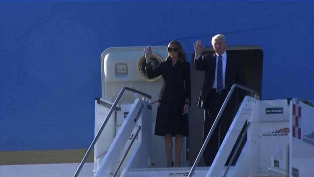 特朗普抵達羅馬將與教宗見面