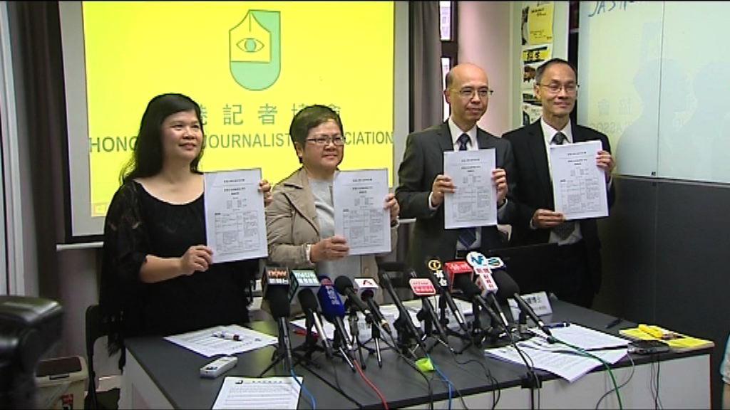 本港新聞自由指數連跌2年後回升