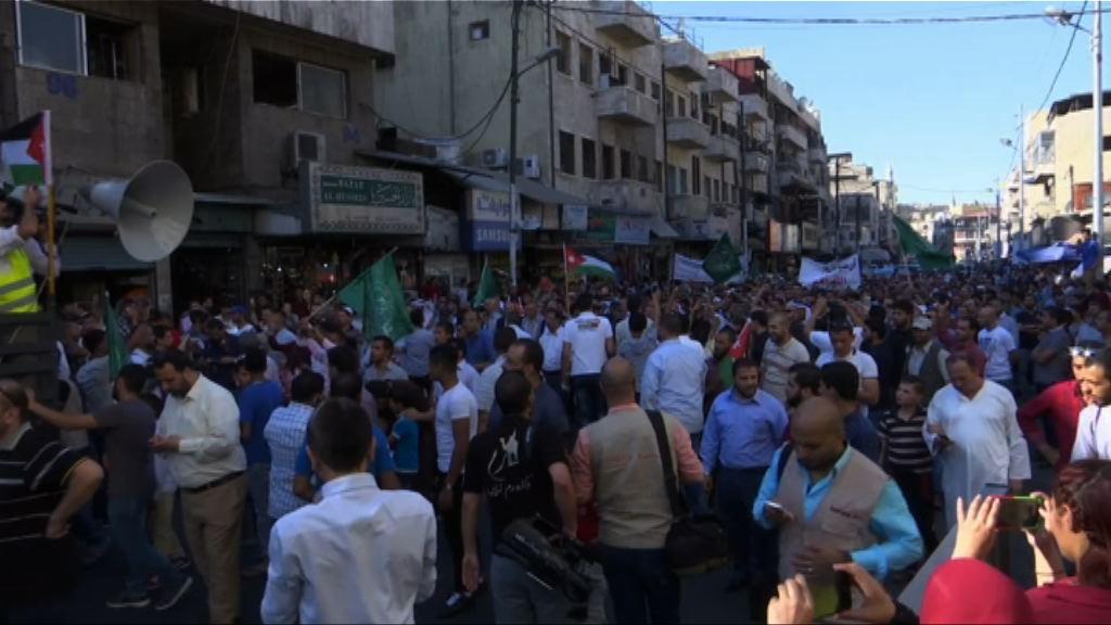 約旦有民眾示威抗議以色列關閉聖殿山