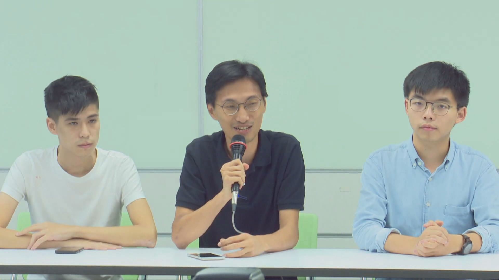 黃之鋒等三人到台灣講述香港情況